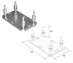 Подставка регулируемая для роликовой опоры под балку 138х144х6 и 95х88х5 - фото 4753
