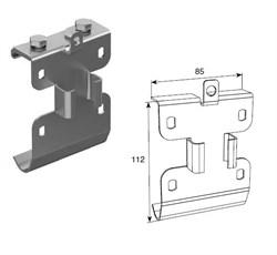 Кронштейн соединительный для двойных направляющих c крепежным адаптером - фото 5023