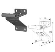 Верхняя опора с роликодержателем для панелей с новой формой профиля RAL9003